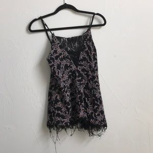 Urban outfitters floral lace tank top